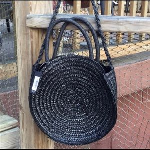Handbags - Summer Must Have! Round Woven Bag zipper closure